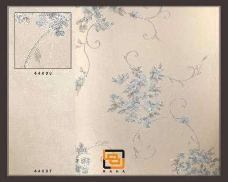 کاغذ دیواری گل ریز آبی اکلیلی براق