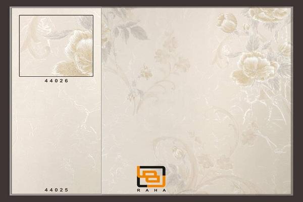 کاغذدیواری گلدار طلایی