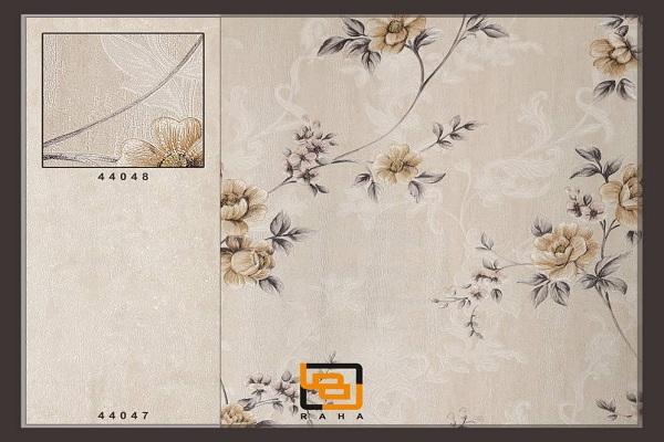 کاغذ دیواری گلهای گندمی رنگ