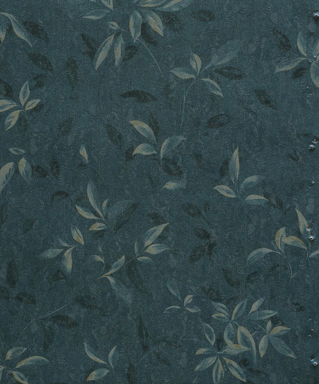 کاغذ دیواری طرح برگ زمینه سبز تیره آلبوم اوکیا