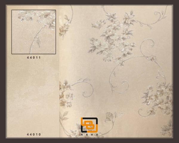 کاغذ دیواری صدفی رنگ گل ریز اکلیلی