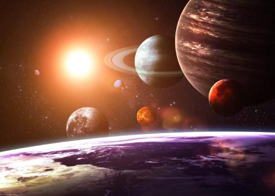 پوستر دیواری سیارات منظومه شمسی