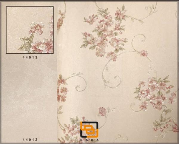کاغذ دیواری گل ریز طلایی گلبهی