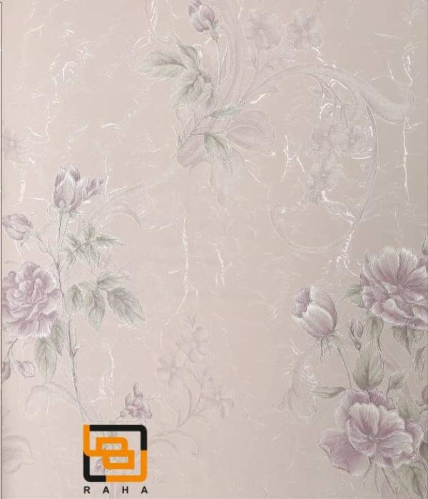 کاغذ دیواری گلدار یاسی
