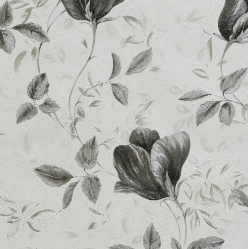 کاغذ دیواری گل سیاه
